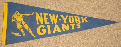 NEW YORK GIANTS FELT PENNANT-1940's