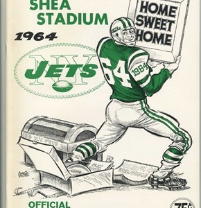 1ST SEASON AT SHEA STADIUM..1964, NEW YORK JETS YEARBOOK