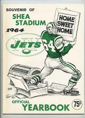 1ST SEASON AT SHEA STADIUM..1964, NEW YORK JETS YEARBOOK