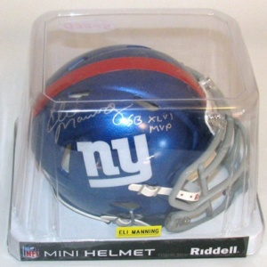 NEW YORK GIANTS AUTOGRAPHED MINI-HELMET