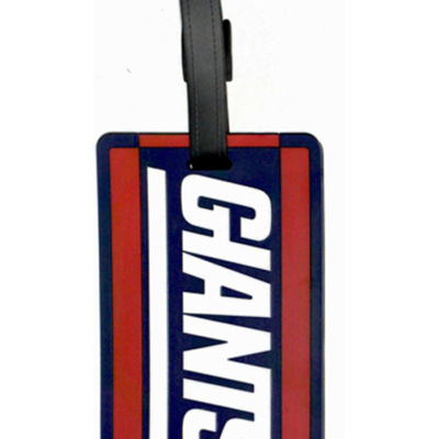 New York Giants Blue Rubber Luggage Tag