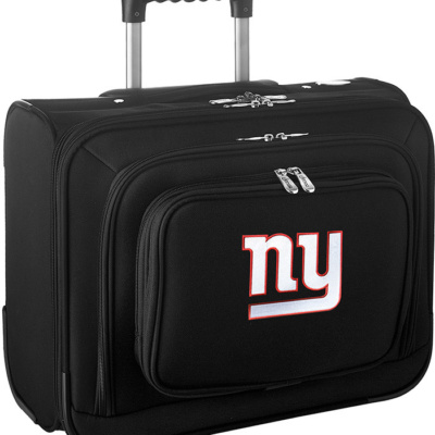 New York Giants Black Overnighter Laptop Luggage