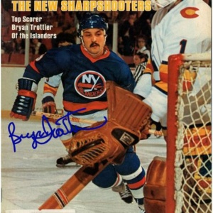 Bryan Trottier Signed Sports Illustrated Magazine