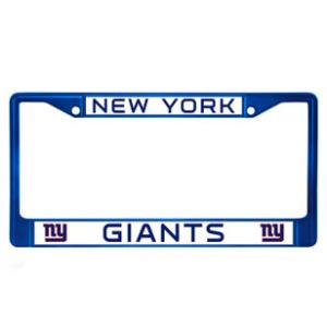 New York Giants Blue Chrome License Frame