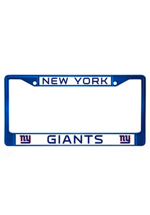 New York Giants Blue Chrome License Frame