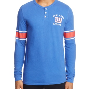Giants Huddle Long Sleeve Henley Shirt
