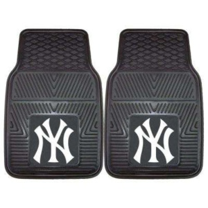 New York Yankees 18 in. x 27 in. 2-Piece Heavy Duty Vinyl Car Mat