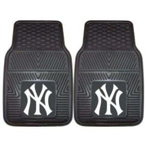 New York Yankees 18 in. x 27 in. 2-Piece Heavy Duty Vinyl Car Mat