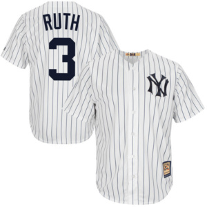 Men's Majestic Babe Ruth White New York Yankees Cool Base Cooperstown Collection Player Jersey