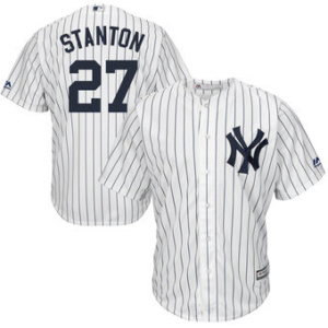 Youth New York Yankees Giancarlo Stanton Majestic White Cool Base Replica Player Jersey