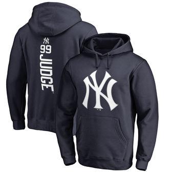 Aaron Judge Navy New York Yankees Backer Pullover Hoodie