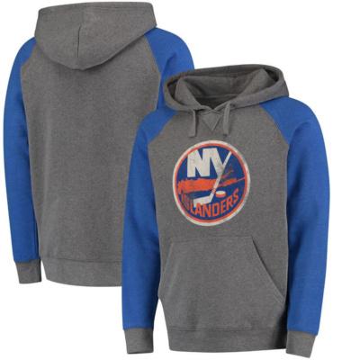 New York Islanders Distress Pullover Hoodie