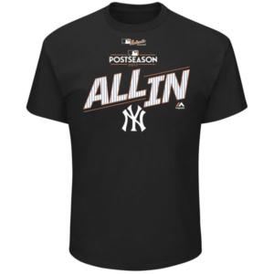 New York Yankees 2017 Division Series Clincher Locker Room T-Shirt