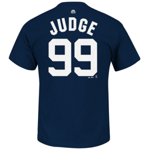 New York Yankees Aaron Judge 99 Name & Number Tee