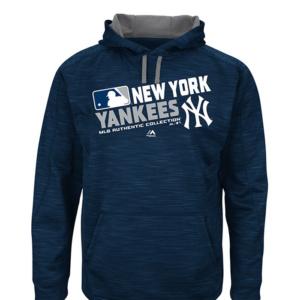 New York Yankees Mens Navy Blue Hoodie