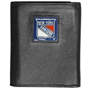 NHL NY Rangers Tri-Fold Leather Wallet - Black