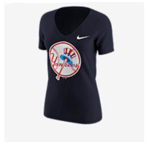 NIKE TRI-BLEND ALTERNATE LOGO (MLB YANKEES) Women's T-Shirt