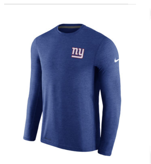 b8a8af18e Men s Nike Royal New York Giants Sideline Coaches Long Sleeve ...