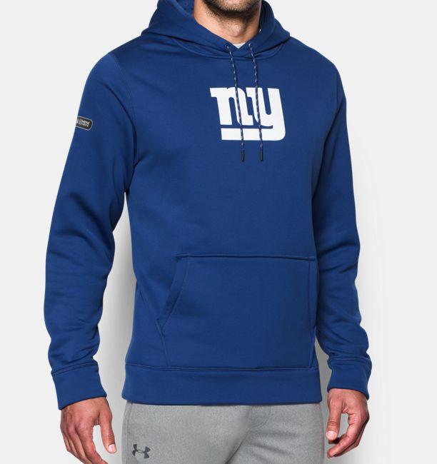 694700b0347 New York Giants Combine Authentic UA Men s Football Hoodie - NY ...
