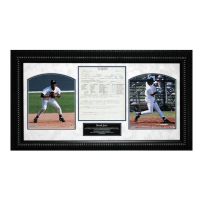 Derek Jeter Scouting Report Framed Collage- Steiner Sports
