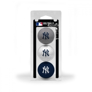 New York Yankees 3 Pack of Golf Balls