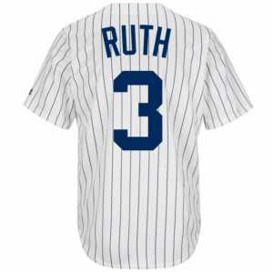 New York Yankees Babe Ruth Cooperstown Replica Baseball Jersey