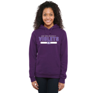 NYU Violets Team Strong Pullover Hoodie