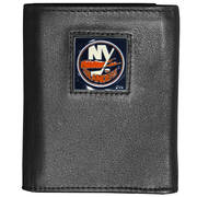 NY Islanders Tri-Fold Leather Wallet - Black