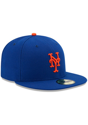 New Era New York Mets Mens Blue AC Game 59FIFTY Fitted Hat - NY ... c5e71d0c3c5