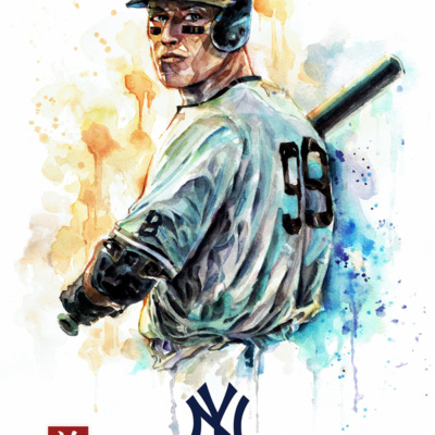 New York Yankees - Aaron Judge - Watercolor