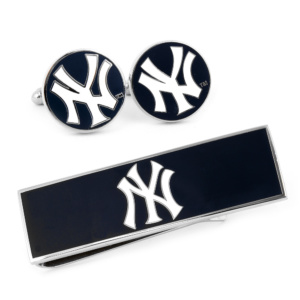 NY YANKEES CUFFLINKS AND MONEY CLIP
