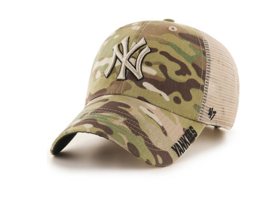 NEW YORK YANKEES MEN S JERICHO  47 CLEAN UP CAMO HAT - NY Sports Shop 90bc8c3f73d