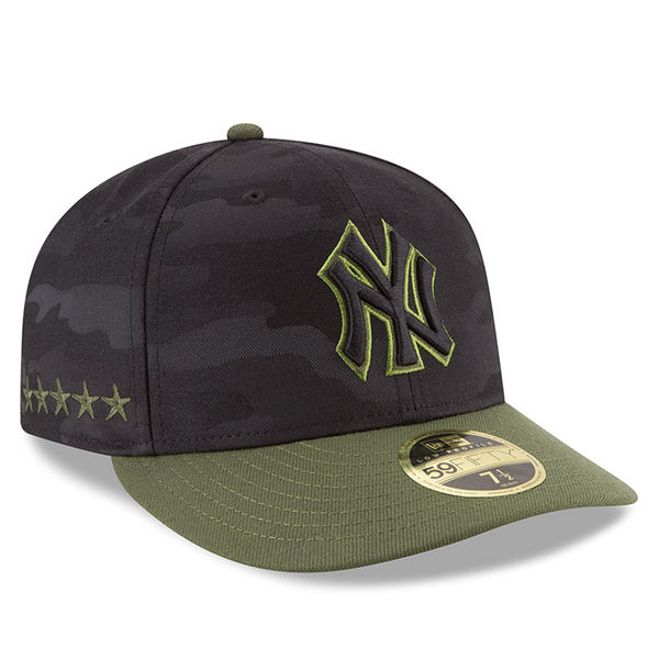 Men s New York Yankees New Era Black 2018 Memorial Day On-Field Low Profile  59FIFTY Fitted Hat- e00276620b7