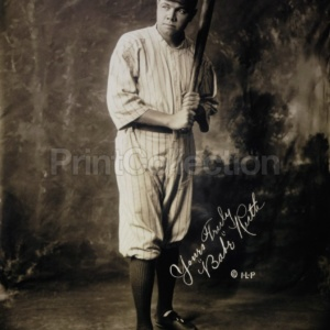 Print Collection Babe Ruth Portrait 1920