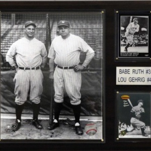 Ruth-Gehrig New York Yankees Player Plaque
