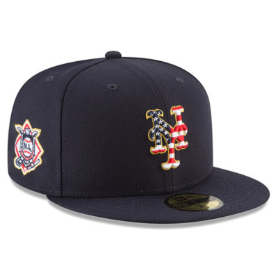 Men's New York Mets New Era Navy 2018 Stars & Stripes 4th of July On-Field 59FIFTY Fitted Hat–