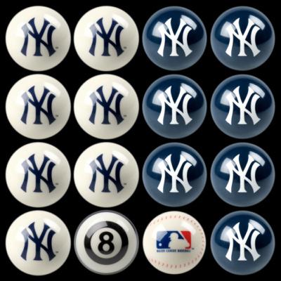 New York Yankees Team Color Billiard Balls
