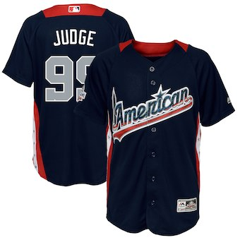 promo code 31365 5d8f3 Aaron Judge American League Majestic Youth 2018 MLB All-Star Game Home Run  Derby Player Jersey