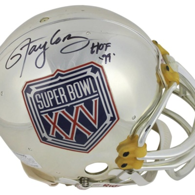 NY GIANTS LAWTENCE TAYLOR SIGNED HELMET