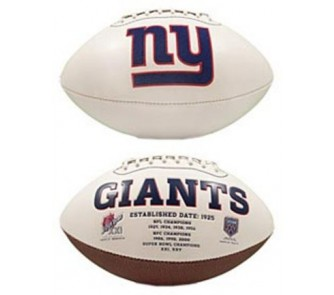 New York Giants Limited Edition Embroidered Signature Series Football