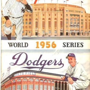 WORLD SERIES 1956 PROGRAM
