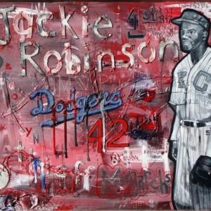 JACKIE ROBINSON PAINTING