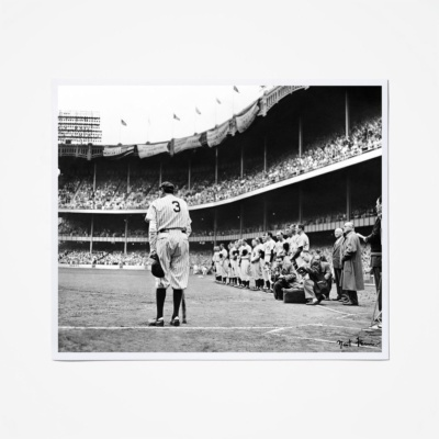 BABE RUTH FARWELL PICTURE