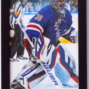 HENRIK LUNDQVIST NEW YORK RANGERS PLAYER PROFILE 10X20 FRAMED PHOTO