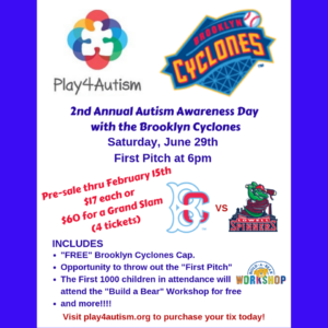 PLAY FOR AUTISM AWARENESS DAY