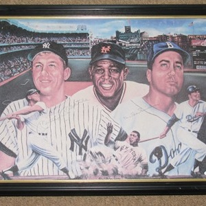WILLIE MAYS,MICKEY MANTLE,DUKE SNYDER PHOTO