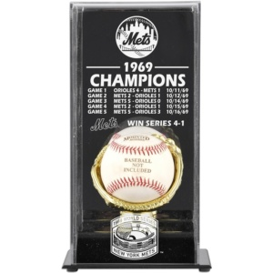 New York Mets Fanatics Authentic 1969 World Series Champions Baseball Display Case