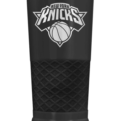 New York Knicks Stealth 24oz Powder Coated Black Stainless Steel Tumbler