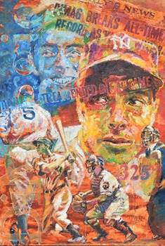 DiMaggio Painting by Jerry Blank