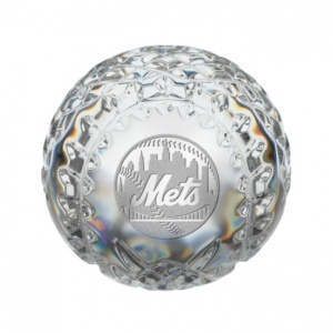 New York Mets MLB Baseball Paperweight-  By Waterford